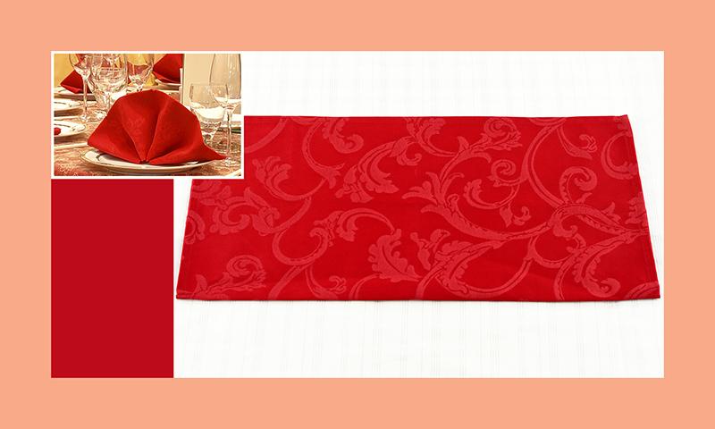 Servietten nachfalten zu Hochzeitsdeko runder Tisch rot 2