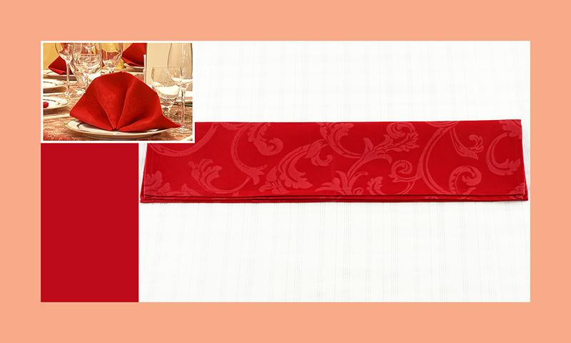 Servietten nachfalten zu Hochzeitsdeko runder Tisch rot 3