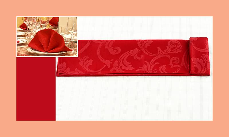 Servietten nachfalten zu Hochzeitsdeko runder Tisch rot 4
