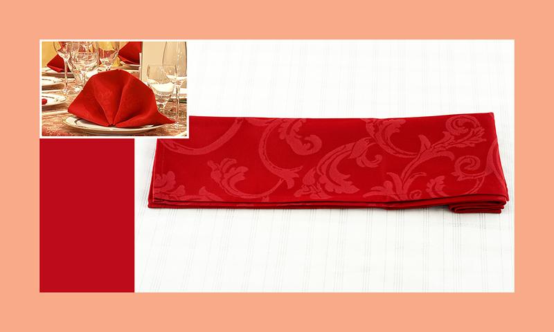 Servietten nachfalten zu Hochzeitsdeko runder Tisch rot 5