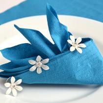 Servietten falten Tischdeko Hochzeit Dschunke